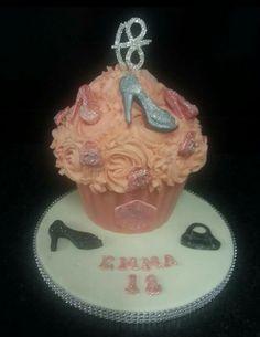 Girls giant cupcake