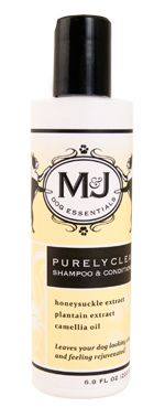 Help break the heatwave for your dog with a dip in the tub. Don't forget your Purely Clean Shampoo & Conditioner! $18 http://mjdog.com/product/dog-shampoo-conditioner