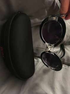 5f45304032 100% Authentic Prada Baroque Women s Swirl Black Round Sunglasses  fashion   clothing  shoes