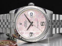 Orologi Rolex Datejust Ref 16234 - 16220 - 116234 Prezzo Rolex Datejust, Rolex Oyster Perpetual, Prezzo, Breitling, Oysters, Watches, Accessories, Pink, Clocks