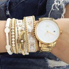 Pic by la merveilleuse instagrameuse @boho_addict ✨ #hipanema #olympe #blogger #jewelry #bijoux #armcandy #bracelet #whiteandgold