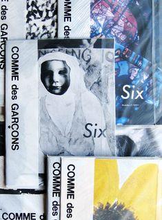 November Books : Comme Des Garcons: Six. Sixth Sense. Rei Kawakubo, Graphic Design Books, Book Design, Fashion Graphic, Layout Inspiration, Design Reference, Fashion Branding, Editorial Design, Vintage Ads