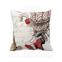 Marie Antoinette Vintage French Decorative Pillow