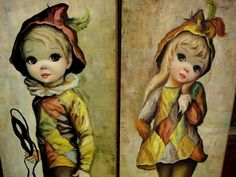 I loved these in the 60's. I had some of the big eyed art in my room.  I think mine were black and white