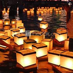 Water Floating Candle Lantern Biodegradable (15*15cm) - USD $2.99