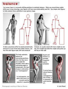 One of the things to look for in gesture drawing: Balance