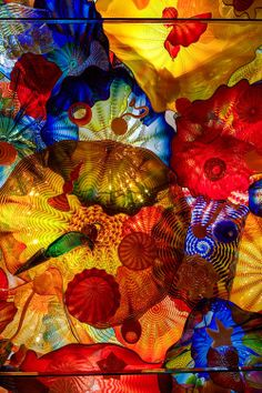red-lipstick: Dale Chihuly (b. 1941, Tacoma, Washington, USA) - Persian Pergola Ceiling, 2002 Olympic Arts Festival, Salt Lake City Hand Blown Glass Ceiling Installations
