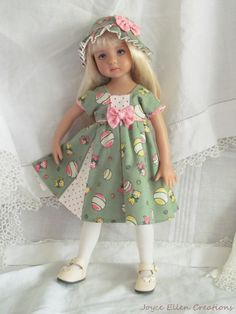 "13"" Effner Little Darling BJD fashion vintage print kittens OOAK handmade by JEC #ClothingAccessories"