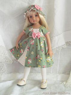 "13"" Effner Little Darling BJD fashion vintage print kittens OOAK handmade by JEC #ClothingAccessories"