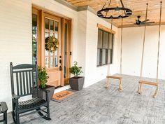 Porch Swing Farmhouse porch with swing The two porch swings have been a great feature My kids are constantly going out there throughout the day to swing Porch Swing Farmhouse porch with swing Porch Swing Farmhouse porch with swing Porch Swing Farmhouse porch with swing Porch Swing Farmhouse porch with swing Porch Swing Farmhouse porch with swing Porch Swing Farmhouse porch with swing #PorchSwing #Farmhouseporch #Porch #swing Wall Paint Colors, White Oak Hardwood Floors, Custom Homes, Farmhouse, Beautiful Homes, Door Paint Colors, Natural Oak Flooring, Modern Farmhouse, Timber Trail