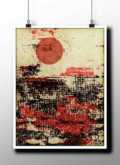 Downloadable Color Poster Graphic Design File Abstract Digital Instant Print Modern Wall Art Grunge Landscape Space Drawing Texture Handmade by STRNART on Etsy