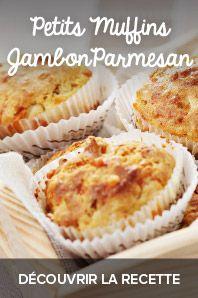 Muffins jambon et parmesan