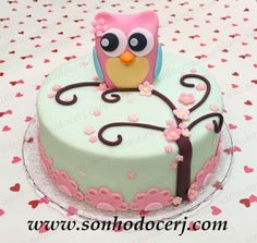 Ideas For Cake Birthday Owl Cake Icing Tips, Chocolate Frosting Recipes, Owl Cakes, Cupcake Cakes, Owl Cake Birthday, Cupcake Cream, Cake Decorating Piping, Quick Cake, Cake Mix Cookies