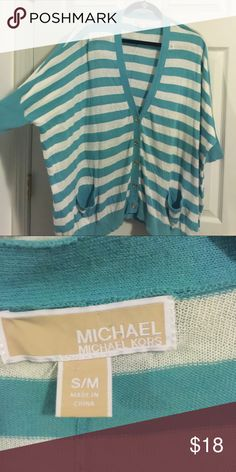 Michael Kors oversized cardigan SM/MED MK cardigan. Loose and oversized.  Bundle 📦 for 💰Savings // 🚫No Trades // 🚫 No PayPal // 🚫I do not sell on other sites // 💟 Thanks for 👀checking out my Closet 🎁 Extra little something with every order ~ Come back for new additions 👠👗👜💍 Michael Kors Sweaters Cardigans