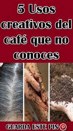 5 #Usos #creativos del #café que no #conoces #vida #bienestar #pelo #cabello #remedios Sodium Bicarbonate, Natural Beauty Remedies, Beauty Tricks, Wellness, Hair, Hair, Creativity