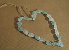 Sea glass heart by apple cottage company, via Flickr.