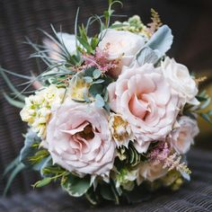 Blush and Sage bouquet, with air plant feature Bridal Bouquets, Air Plants, Sage, Floral Wreath, Blush, Wreaths, Flowers, Wedding Bouquets, Flower Crowns