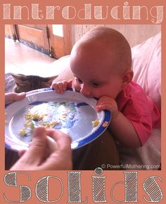 Introducing Solids For Baby Weaning Solids For Baby, Introducing Solids, Baby Weaning, Everything Baby, Baby Needs, Baby Play, Having A Baby, Parenting Advice, Baby Care