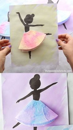 COFFEE FILTER BALLERINAS 💕 - such a fun craft for kids! Perfect watercolor painting project for kids. crafts for kids for teens to make ideas crafts crafts Coffee Filter Crafts, Coffee Crafts, Coffee Filter Projects, Coffee Filter Art, Craft Work For Kids, Art For Kids, Kids Fun, Painting Ideas For Kids, Cool Crafts For Kids
