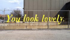 diy chain link fence artistry: weave a sign or design