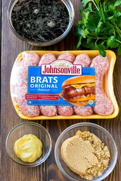 These beer brat bites are juicy bratwurst sausages that are grilled to perfection, then sliced and tossed in a beer glaze. Bratwurst Recipes, Beer Recipes, Cooking Recipes, Pork Recipes, Sausage Appetizers, Yummy Appetizers, Appetizer Recipes, Chorizo, Bratwurst Sausage