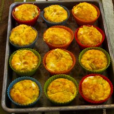 Low-Carb Green Chile and Cheese Egg Muffins (Video) – Kalyn's Kitchen Make Ahead Breakfast, Low Carb Breakfast, Breakfast Recipes, Snack Recipes, Breakfast Ideas, Snacks, Vegetable Crisps, Great Recipes, Favorite Recipes