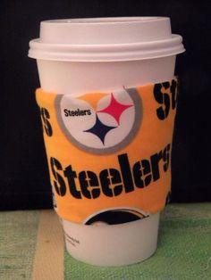 Pittsburgh Steelers Coffee Sleeve Cozie  NLF on Etsy, $3.75