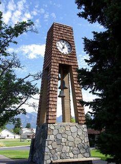 Big Clocks, Outdoor Clock, Montana Homes, World Clock, Unusual Clocks, World Street, Big Sky Country, Time Clock, Beautiful Buildings