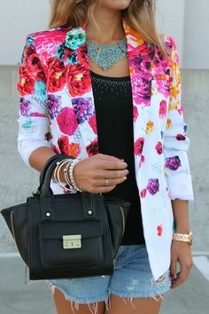 Floral Print #Blazer        #fashion