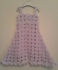 Free crochet pattern - Beautiful toddler dress for 1 - 2 year old girl. Gorgeous by Peach.Unicorn Designs