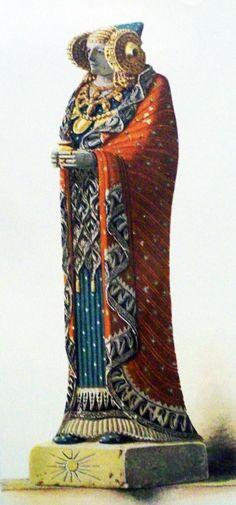 Lady of Elche in Lliria, 4th century BCE,(hypothesis)