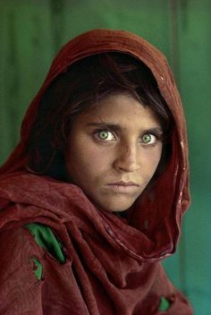 "The ever-famous ""Afghan Girl"", by Steve McCurry."