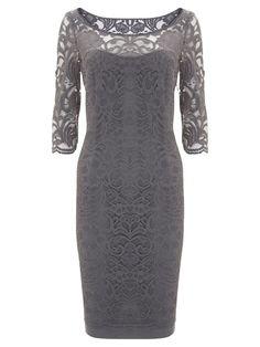 Mint Velvet Lace Border Dress, Storm online at JohnLewis.com - John Lewis
