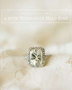 Moissanite Halo Ring on Glamour & Grace
