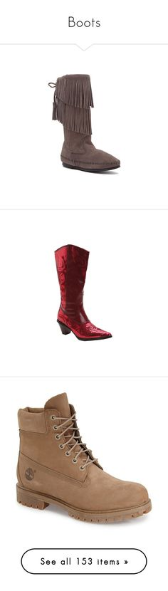 """""""Boots"""" by pinky-dee ❤ liked on Polyvore featuring shoes, boots, grey suede, slouchy boots, grey suede boots, suede boots, fringe boots, grey slouch boots, red and red boots"""