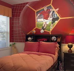 cool soccer bedrooms soccer wall murals bedroom design inspirations