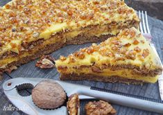Mennyei diótorta - gluténmentes - GasztroBlogok.hu Dessert Recipes, Desserts, Tasty Dishes, Lasagna, Cooking Recipes, Sweets, Baking, Cake, Ethnic Recipes