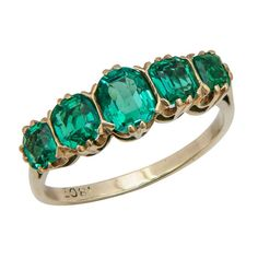 Fine Emerald Ring circa 1910 | From a unique collection of vintage cocktail rings at https://www.1stdibs.com/jewelry/rings/cocktail-rings/