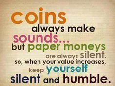be silent and humble