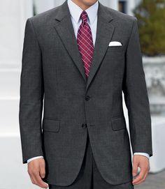 Business Express 2-Button Jacket- Navy or Cambridge Grey