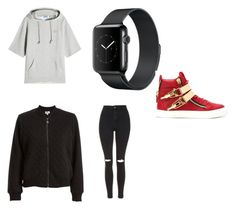 """""""Sans titre #405"""" by stylesforstars ❤ liked on Polyvore featuring SJYP, Max Studio, Topshop and Giuseppe Zanotti"""