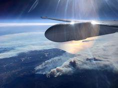 NASA's Science Aircraft Flies Over Thomas Fire in California