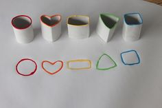 Printing with toilet paper rolls - (instructions are in Spanish, but the photos say it all)