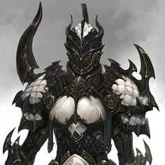 Scary knight / Hellknight / Hell Knight or elaborately embellished armoured knight Pathfinder or DnD or hardcord LRP / cosplay inspiration Fantasy Character Design, Character Design Inspiration, Character Concept, Character Art, Armadura Medieval, Foto Fantasy, Dark Fantasy Art, Fantasy Armor, Fantasy Weapons