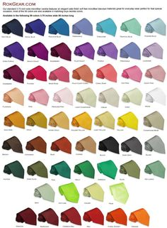 Finnicks neckties - good color reference chart haha