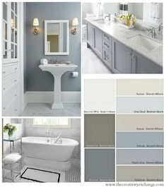 Choosing Bathroom Wall and Cabinet Colors Paint It Monday The Creativity Exchange