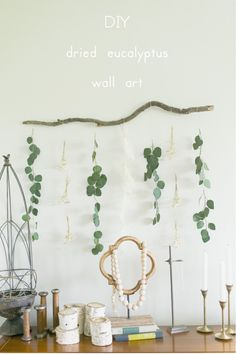 DIY dried eucalyptus