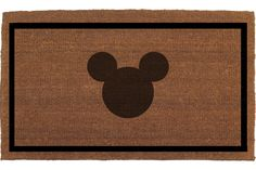 "Mickey Mouse Door Mat - Coir Doormat Rug, 2' x 2' 11""  (24 Inches x 35 Inches) Welcome Outdoor Mat, Housewarming Gift, Hand Painted By Me by FranklinandFigg on Etsy https://www.etsy.com/listing/264517158/mickey-mouse-door-mat-coir-doormat-rug-2"