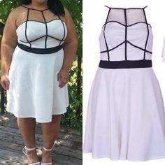 $Firm -Dress 95 Polyester 5 Spandex  Zipper back  1x 12/14 2x 16/18 3x 20/22 Boutique Dresses Mini