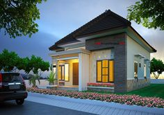 This is small contemporary affordable house for couples. Do you have a plan or find a home? The house. House Front Design, Door Design, Beautiful House Plans, Beautiful Homes, House Plans Mansion, Kerala House Design, Kerala Houses, Affordable Housing, Finding A House